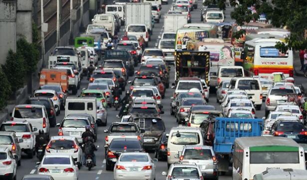マニラ市内の渋滞