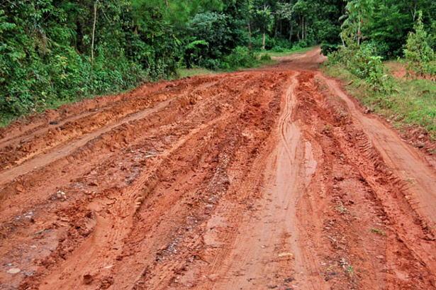 シェムリアップの泥道
